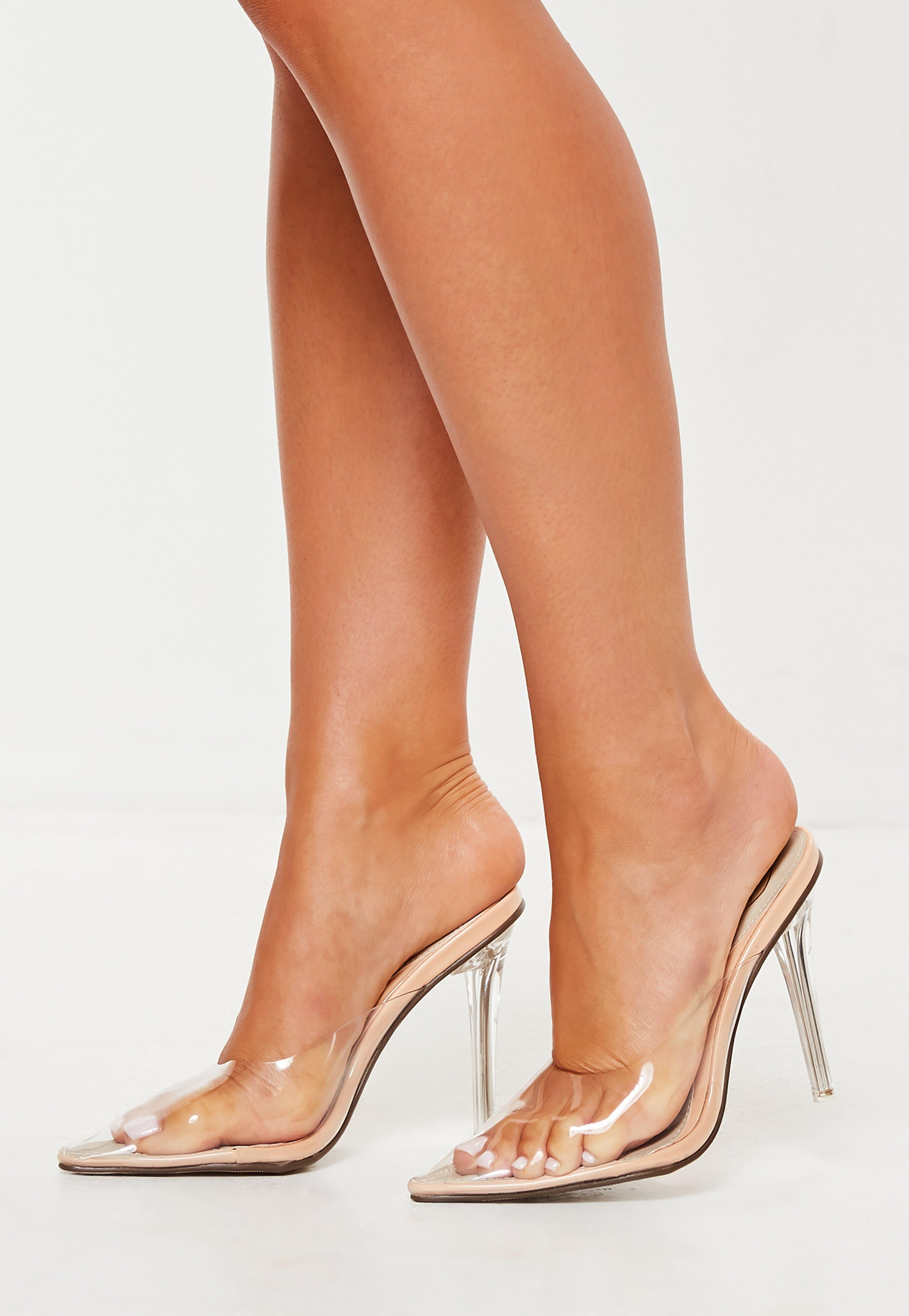 6a5a6636590 Clear Heels - Shoes