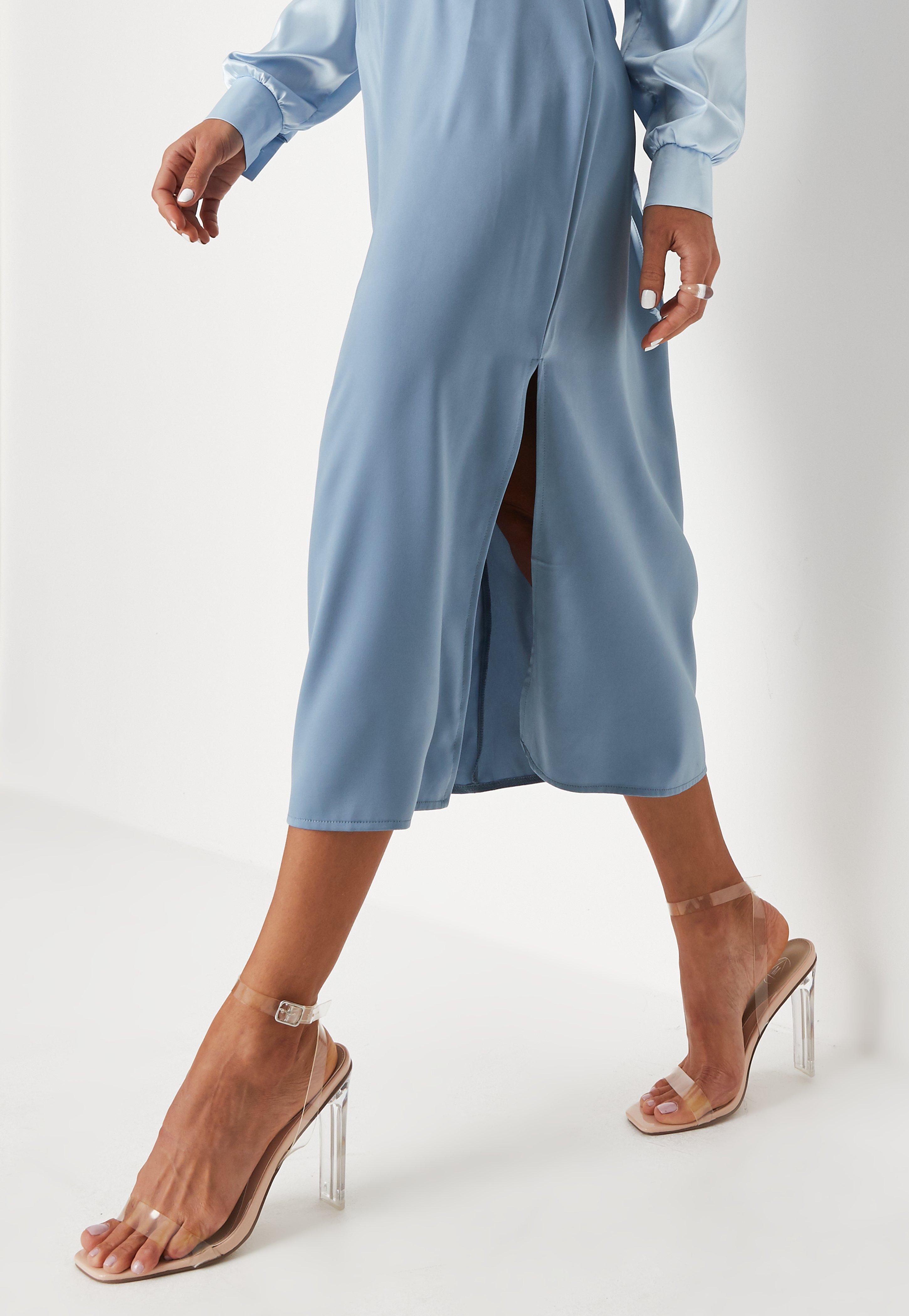 conception de la variété trouver le prix le plus bas styles de mode Sandales à talons nude à brides transparentes