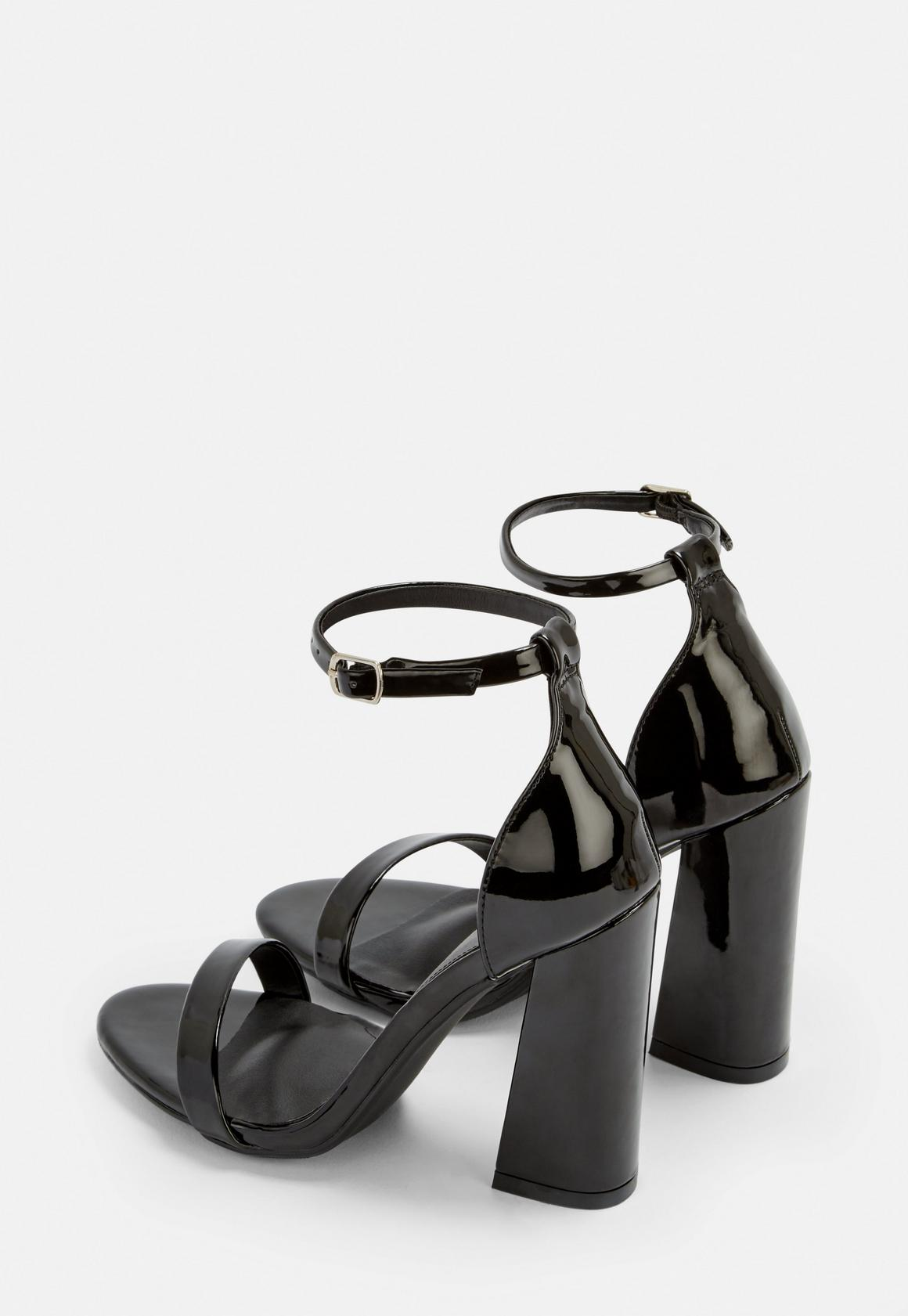 df2ada3ac11 Missguided Patent Barely There Flared Block Heels at £22