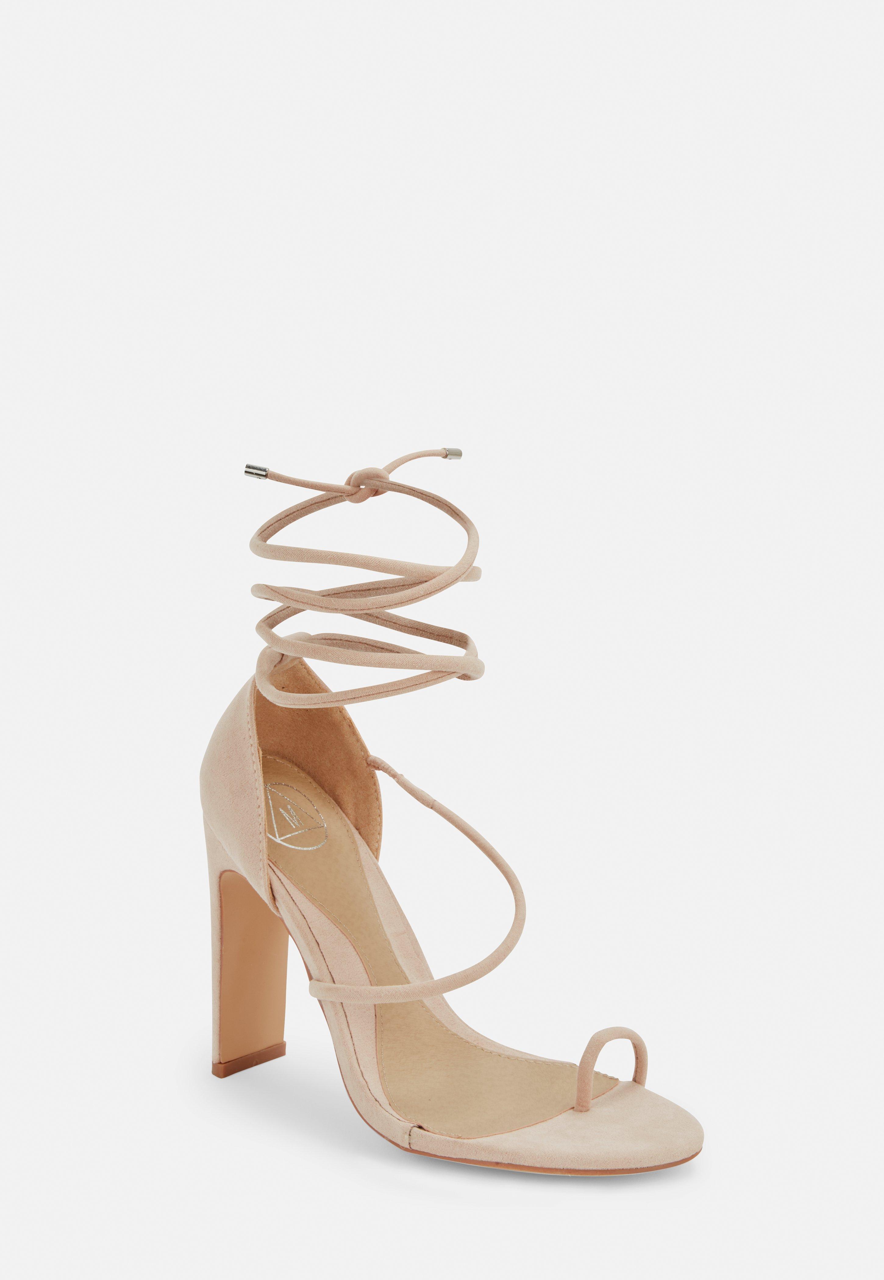62e10892310470 Lace Up Heels