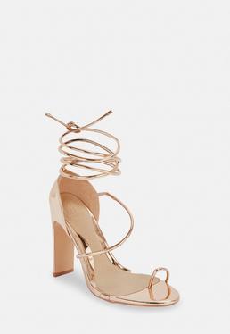 b69b81cf846 Gold Heeled Sandals