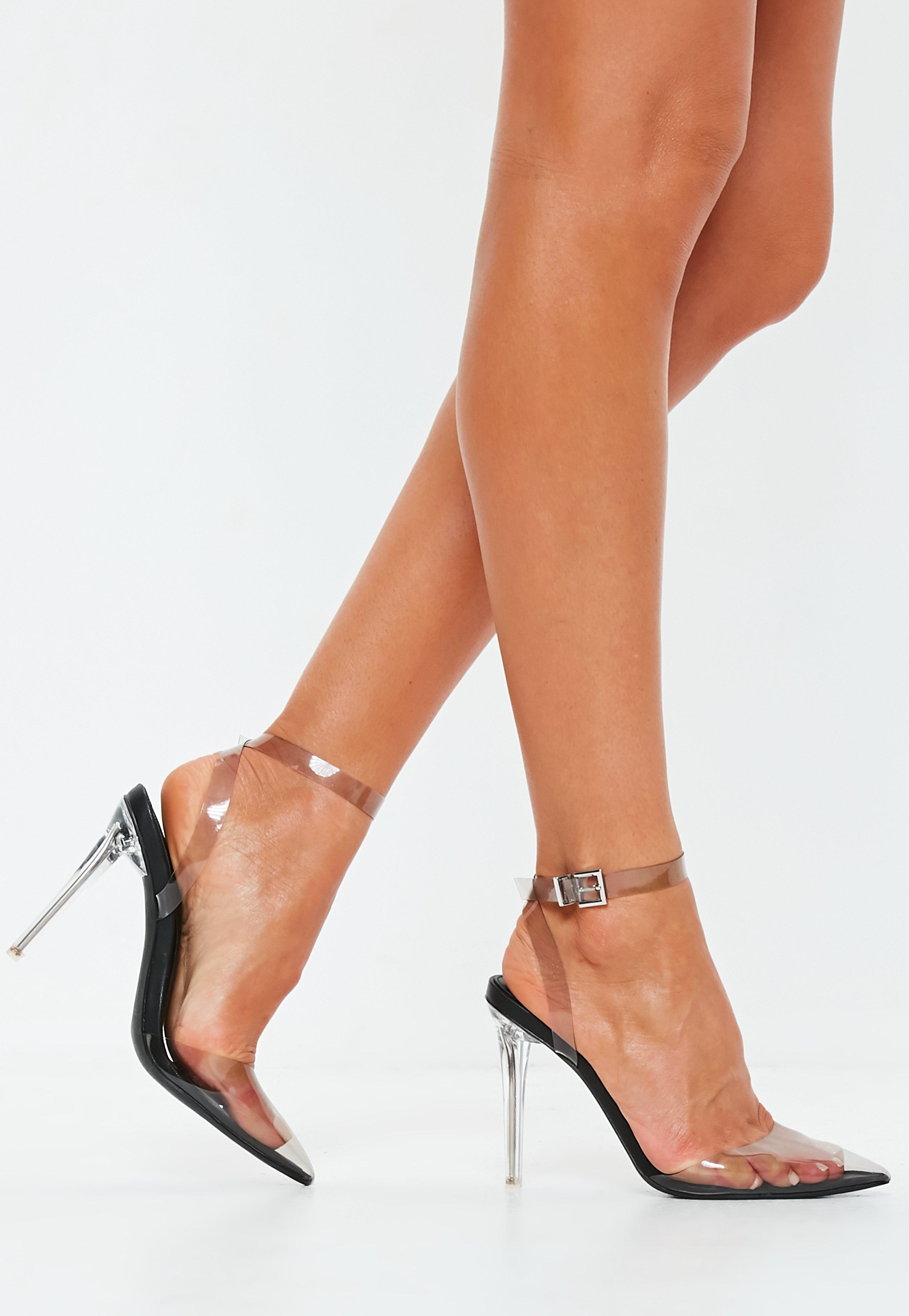 0f4b026928c Black Clear Pump Shoe Heels