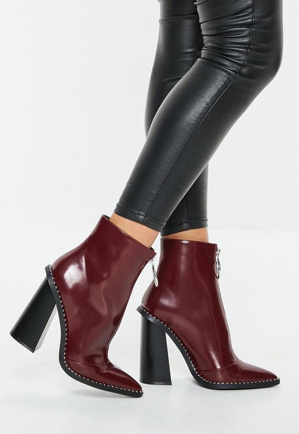 b7f020c685f Tan Snake Print Block Heel Tubular Boots
