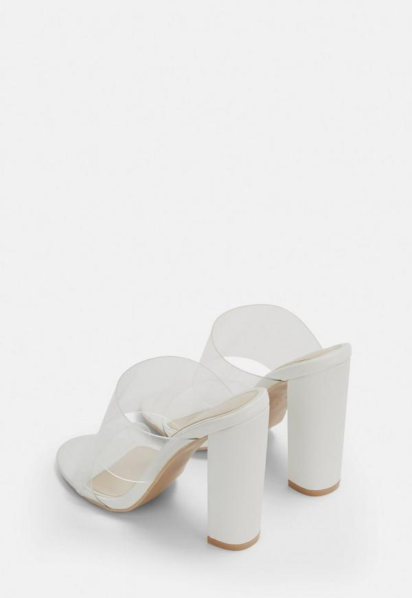 b04541e2782 ... White Perspex Block Heel Sandals. Previous Next