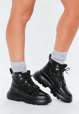 Women S Trainers Wedge High Tops Missguided