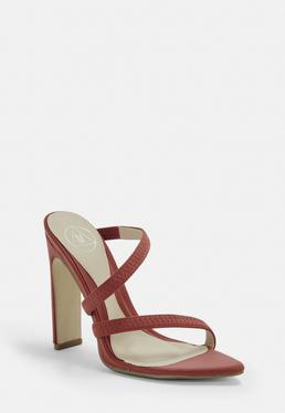 1fb5737f3d7 Terracotta Pointed Toe Barely There Heels