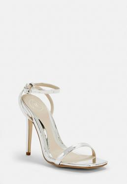 38a37ab522ff ... Silver Barely There Heels