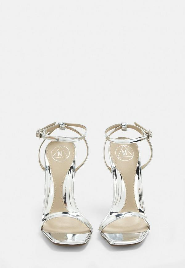 c8331d2cc3e Silver Barely There Heels. Previous Next