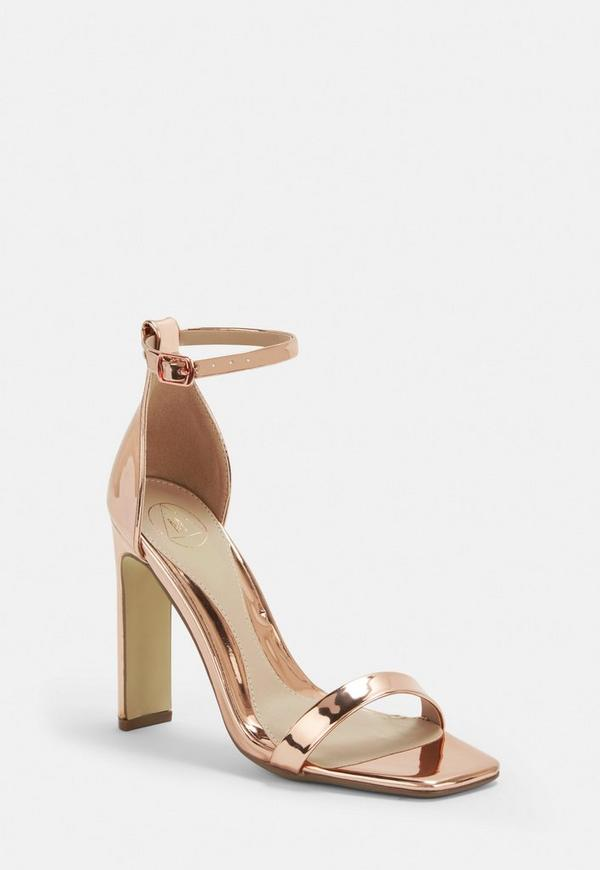 e8d26b8cb356 Rose Gold Wide Fit Barely There Heels