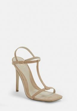 b6e85b16b99d Blue T Bar Barely There Heels · Nude T Bar Barely There Heels