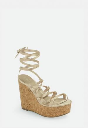 909a1ff9d5 White Diamante Trim Wedge Sandals | Missguided