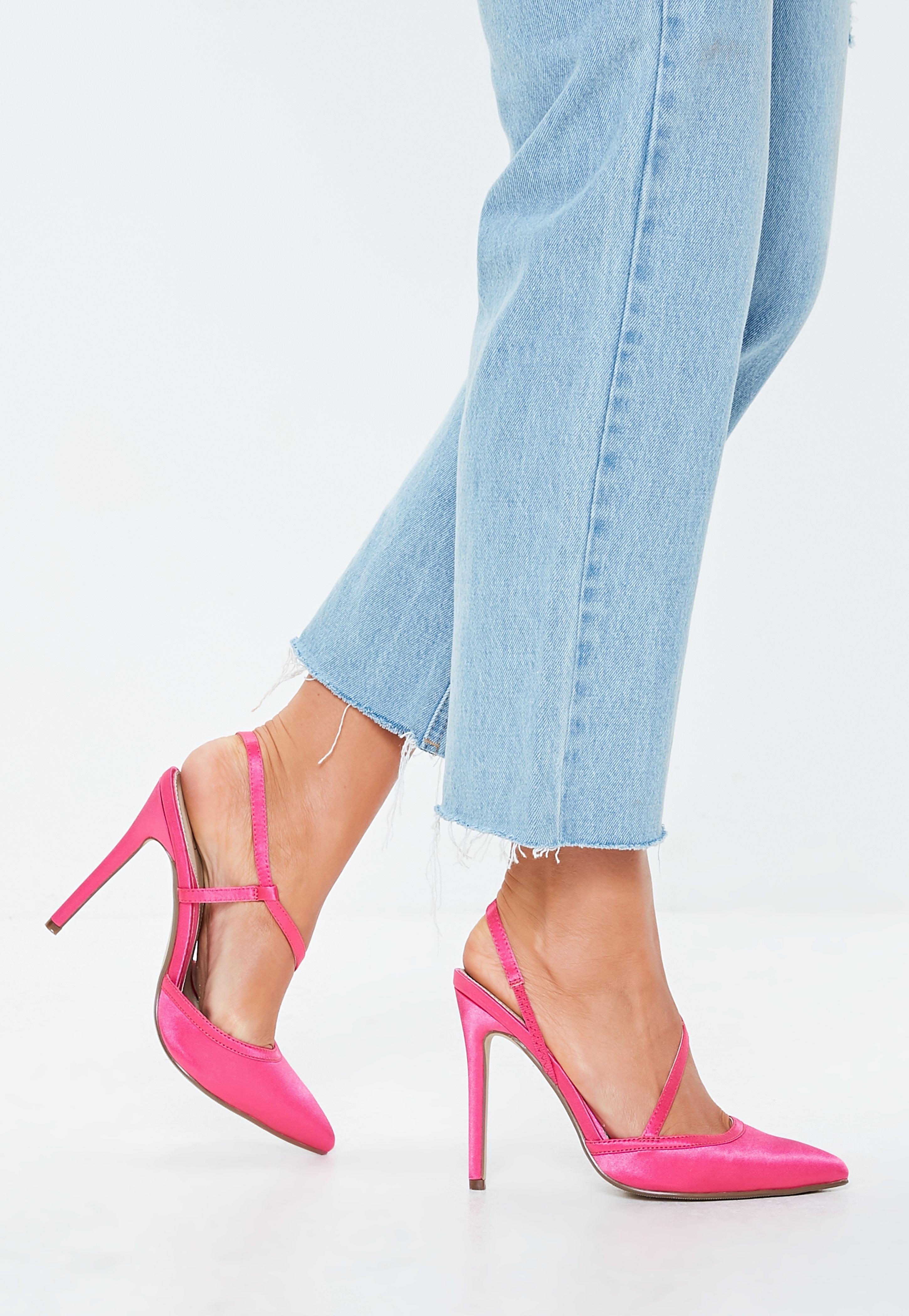 e8c80233d67 Hot Pink Asymmetric Court Shoes