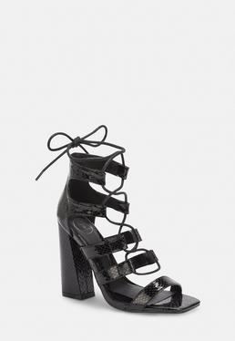 Heeled There Missguided Barely Heels SandalsStrappyamp; FlJKc1