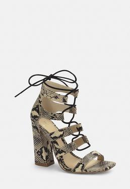 904a086938a Lace Up Sandals · Block Heel Sandals