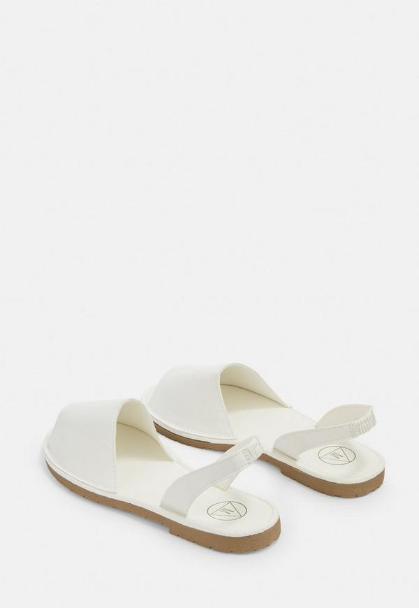 40a06c4d3dbe White Two Part Slingback Sandals. Previous Next