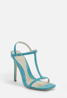 bfcf1e108c89 Blue T Bar Barely There Heels