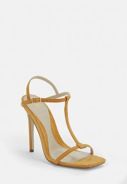 4f376379459080 ... Mustard T Bar Barely There Heels