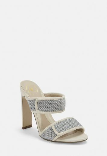 ae540144f27 White Double Strap Padded Mules