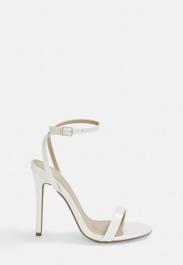 White Basic Barely There Heels by Missguided