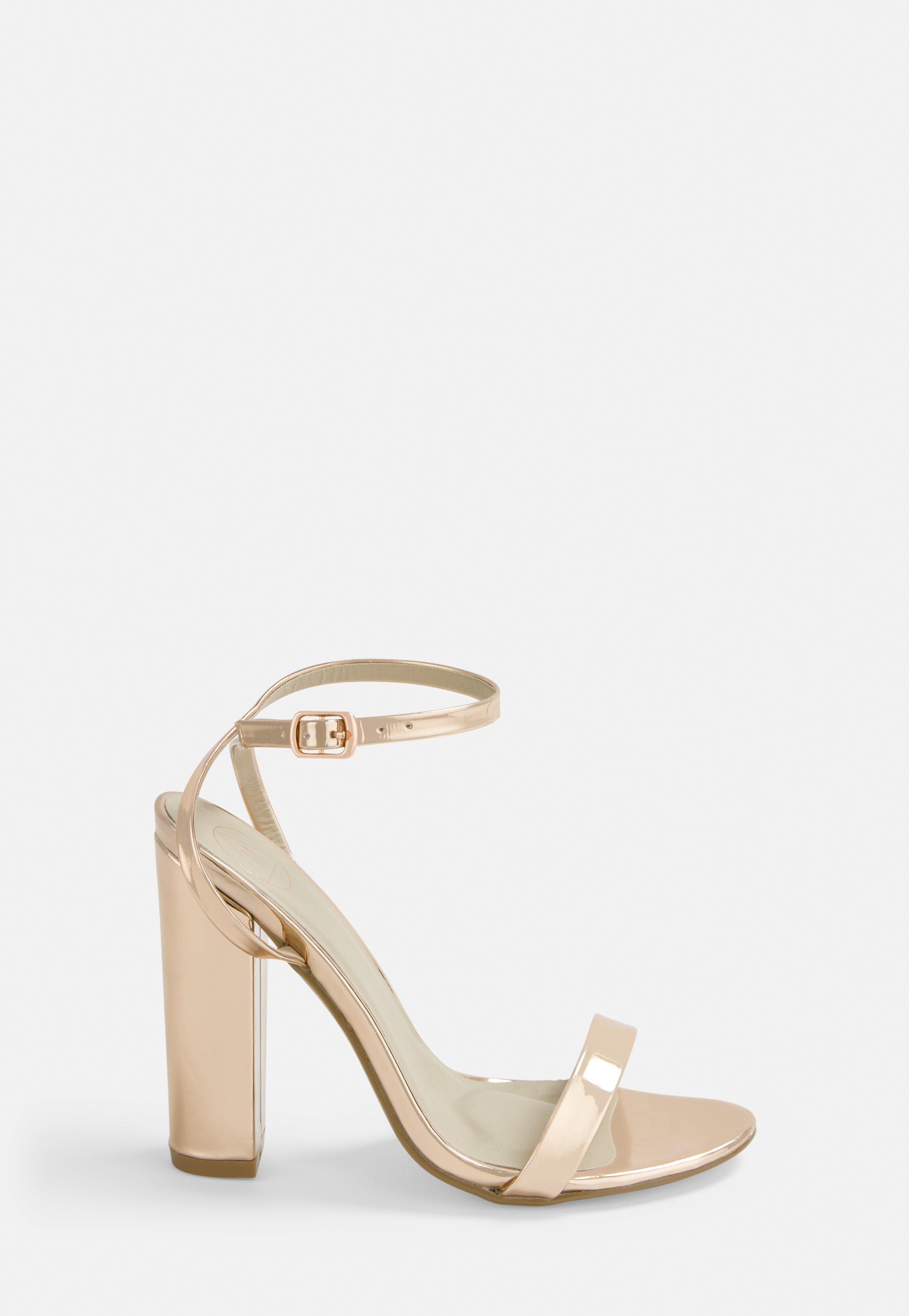 In Sandalen Mit Heel Rosé Gold Blockabsatz High jLq35A4R