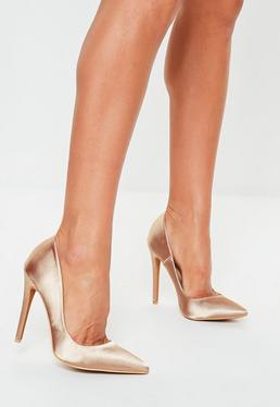 e358e739719c Mauve Satin Court Shoes
