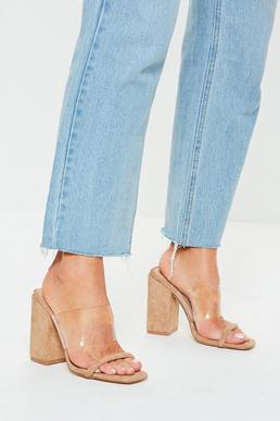 6d2d1066531 Clear Cinderella Slippers Clear plastic slideon heels embellished