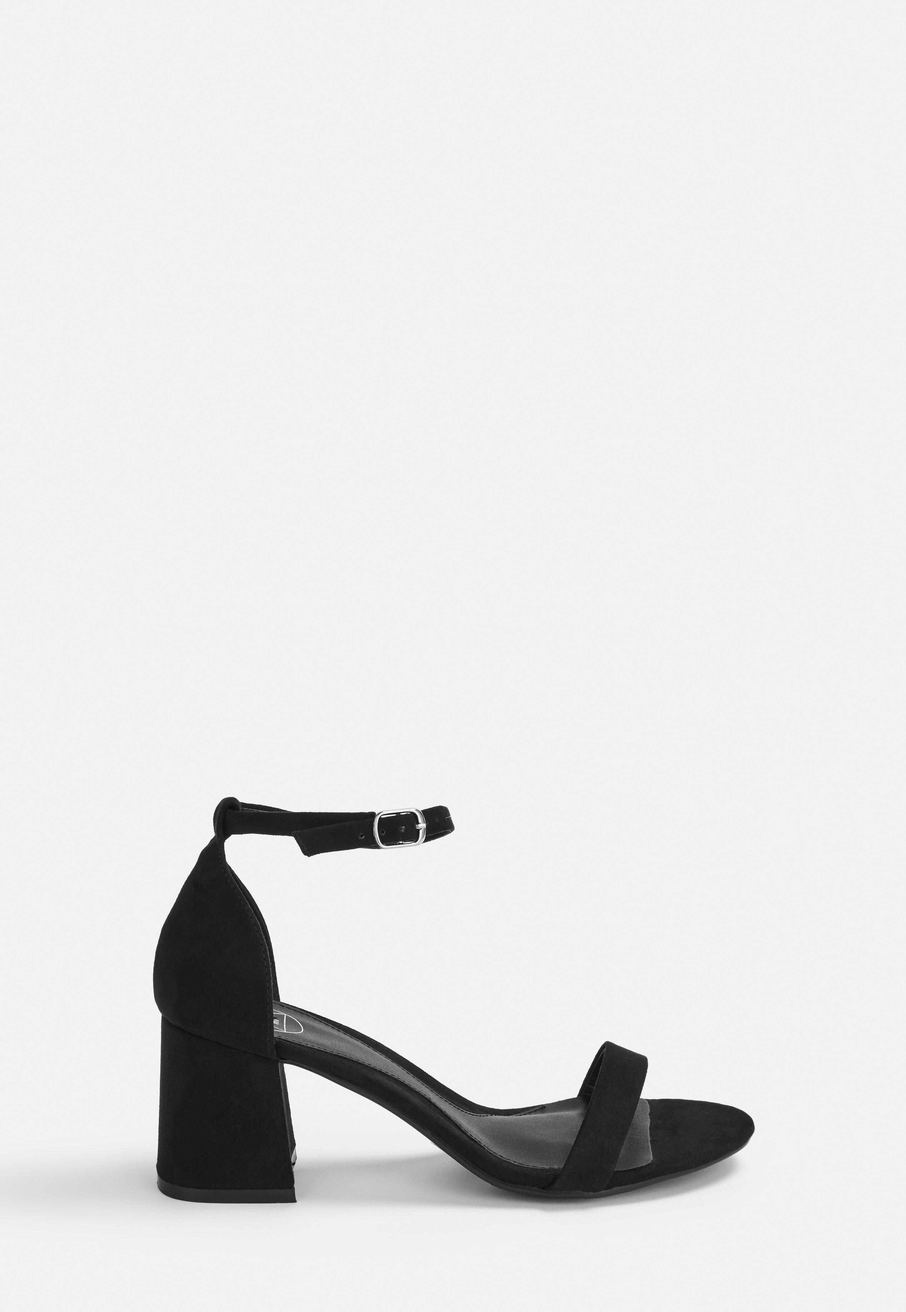 c9757fc0a91 Black Block Barely There Mid Heels