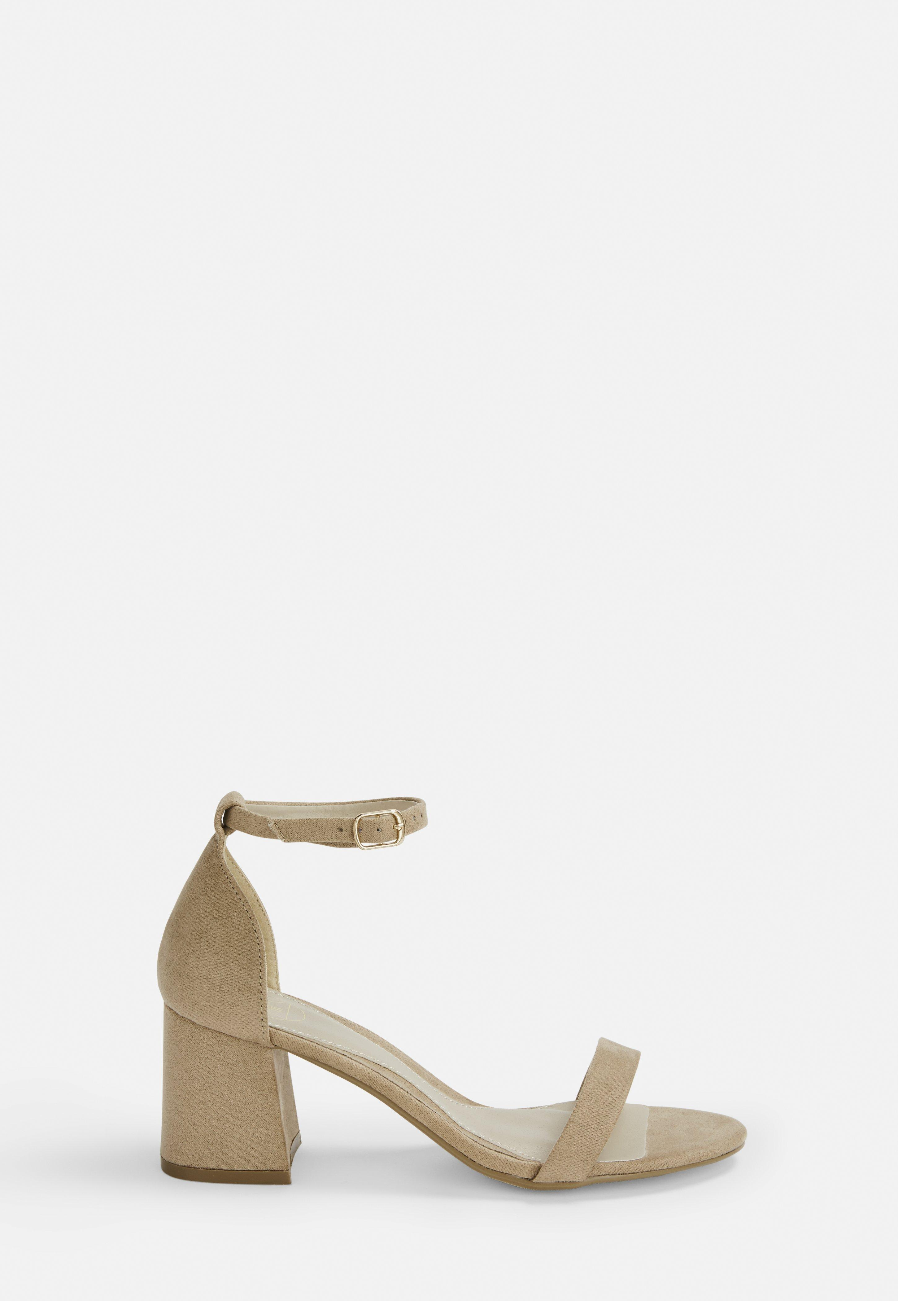 c1e4c430a9d Nude Block Barely There Mid Heels