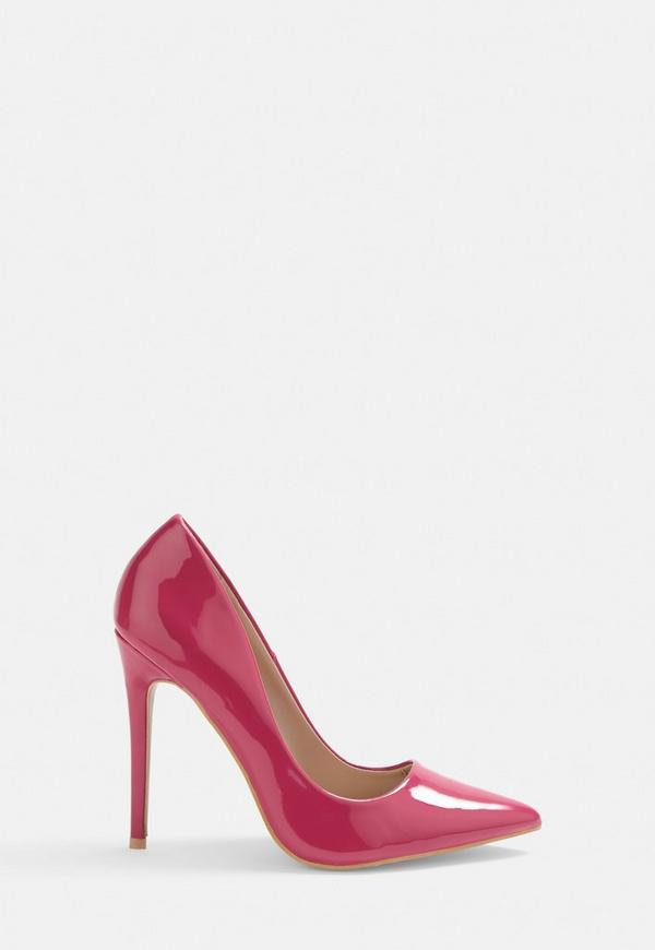 f19fb345eac Pink Patent Court Heels