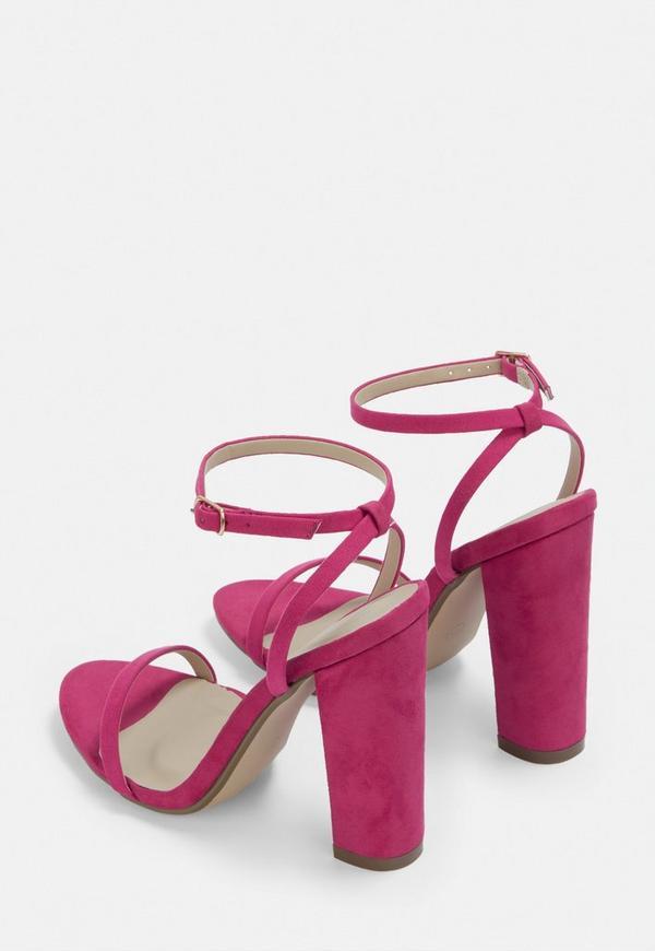 Wedopus MW194 Hot Pink Low Heel Shoes Bridal Peep Toe 5CM