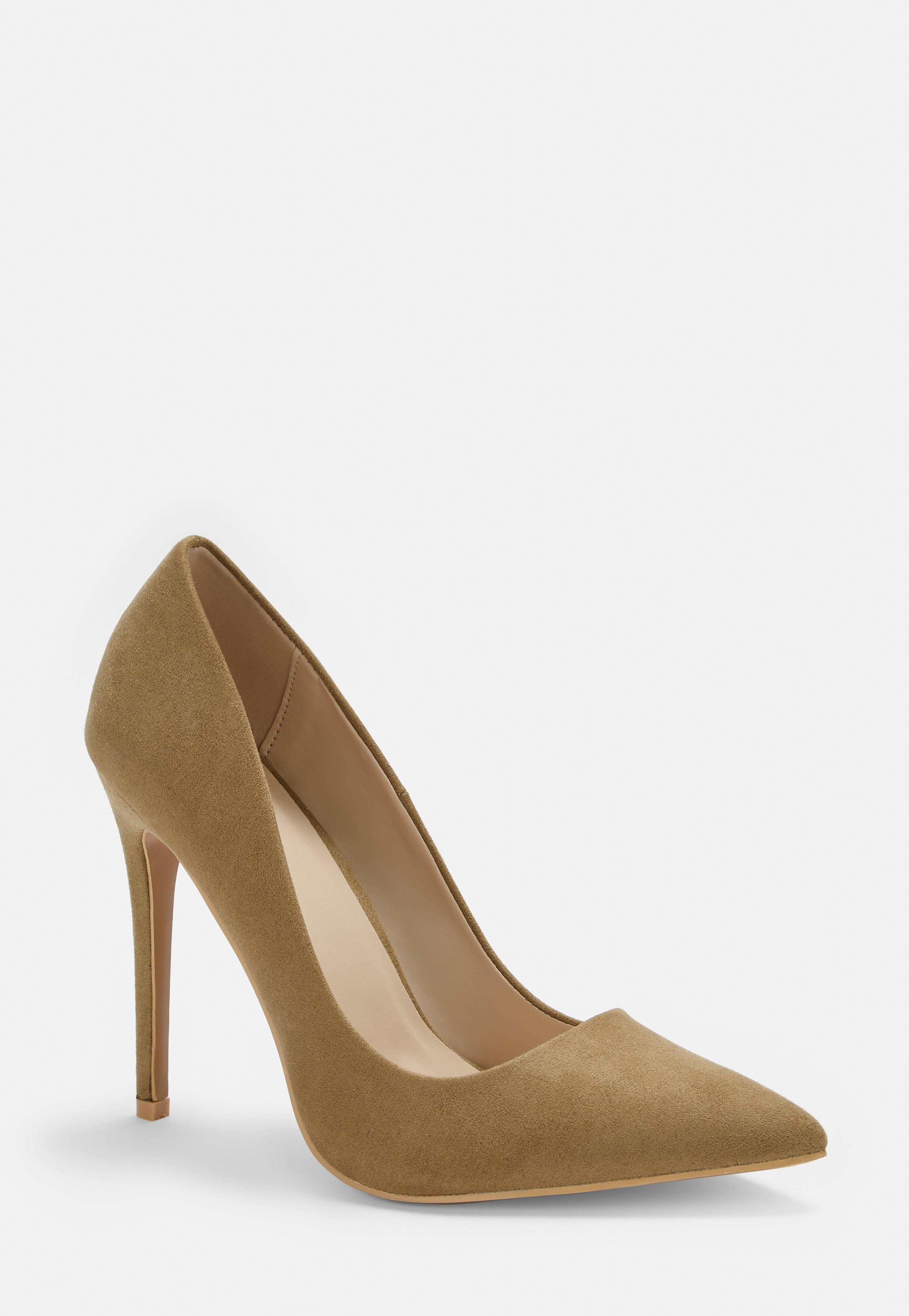 Nude Faux Suede Pumps by Missguided