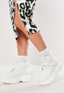 348b3370a White Super Chunky Trainer Boots