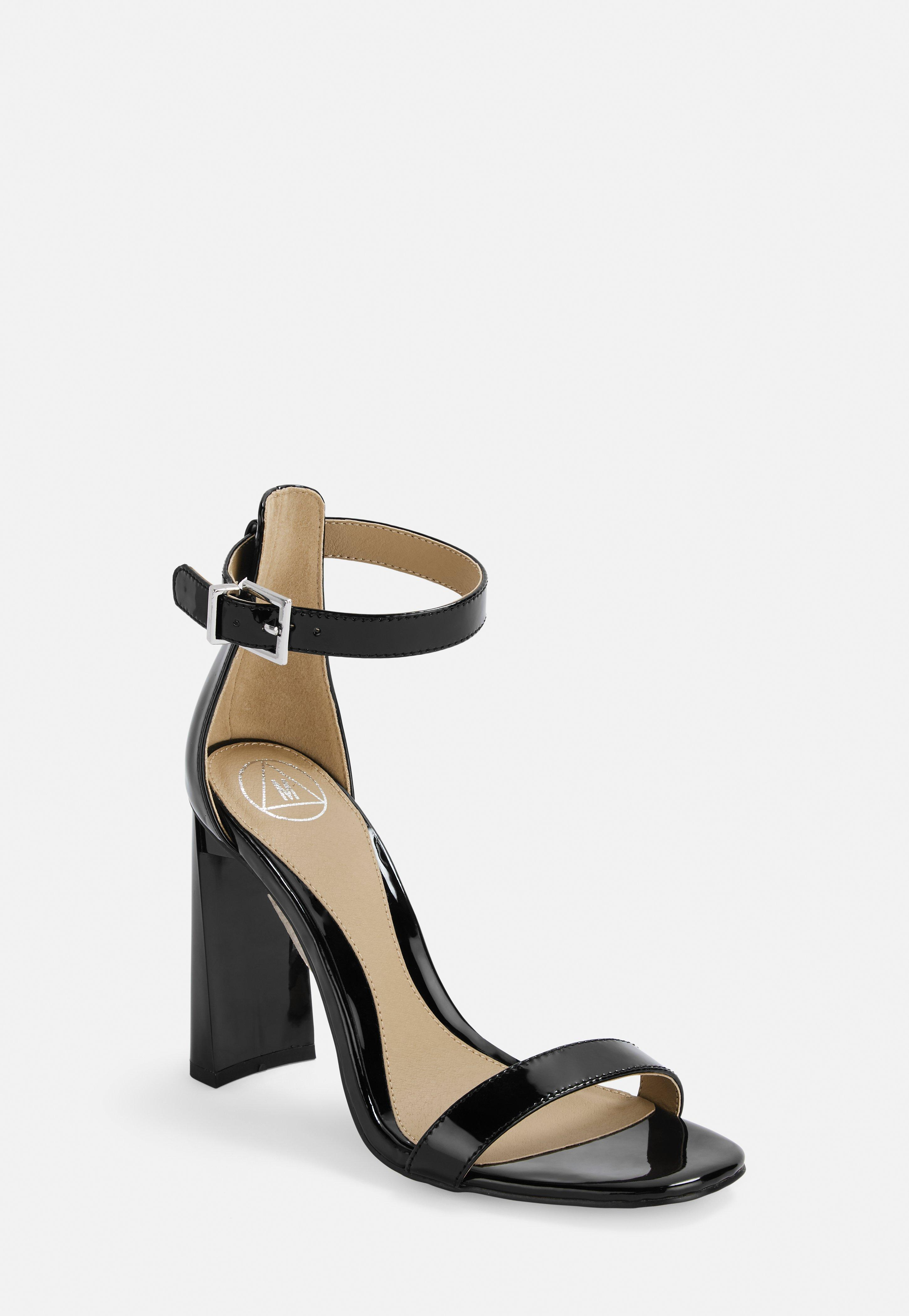 3e569cbec2d Black Patent Barely There Feature Heels