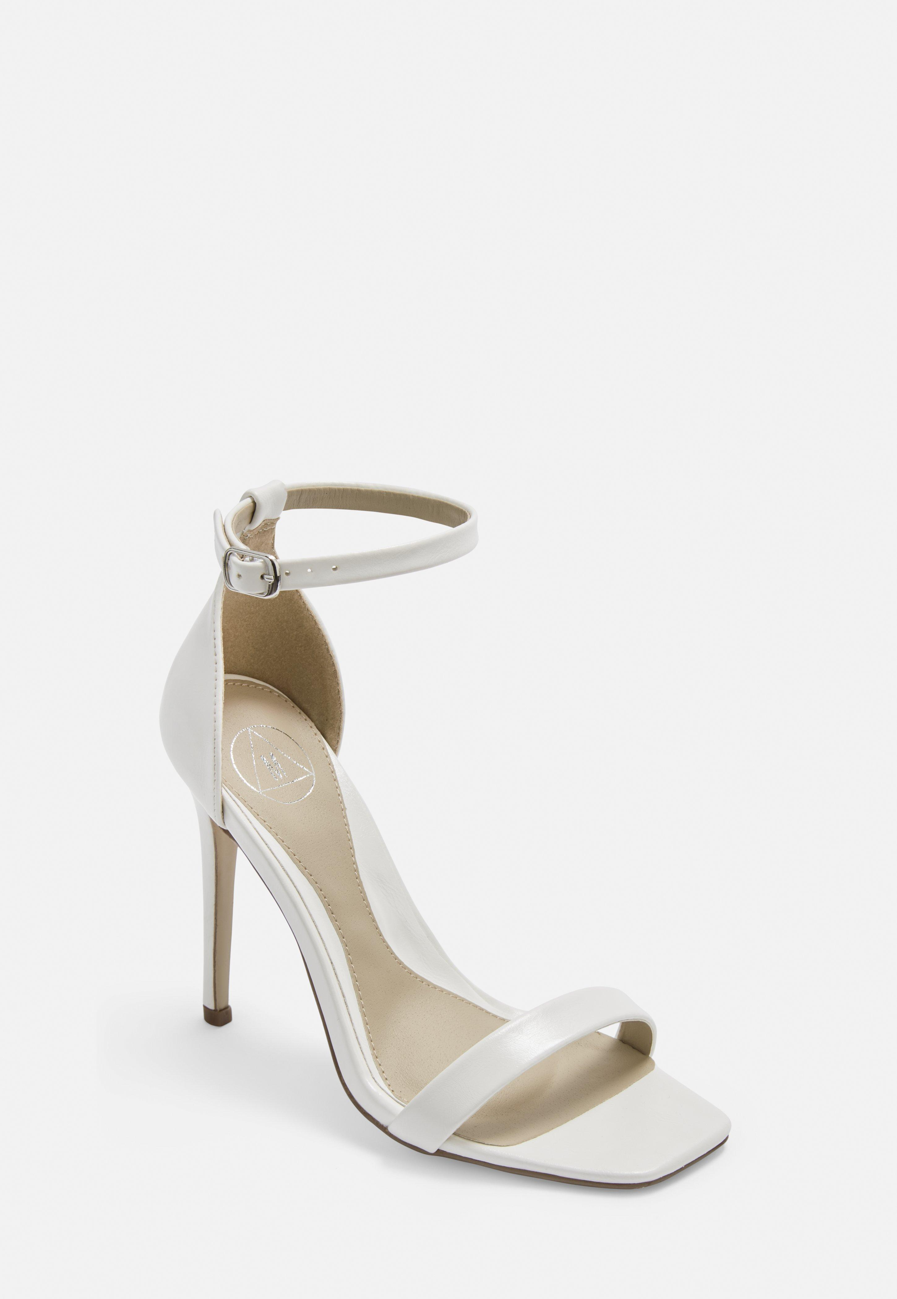2c08d81cacd7f White Wide Fit Barely There Heels