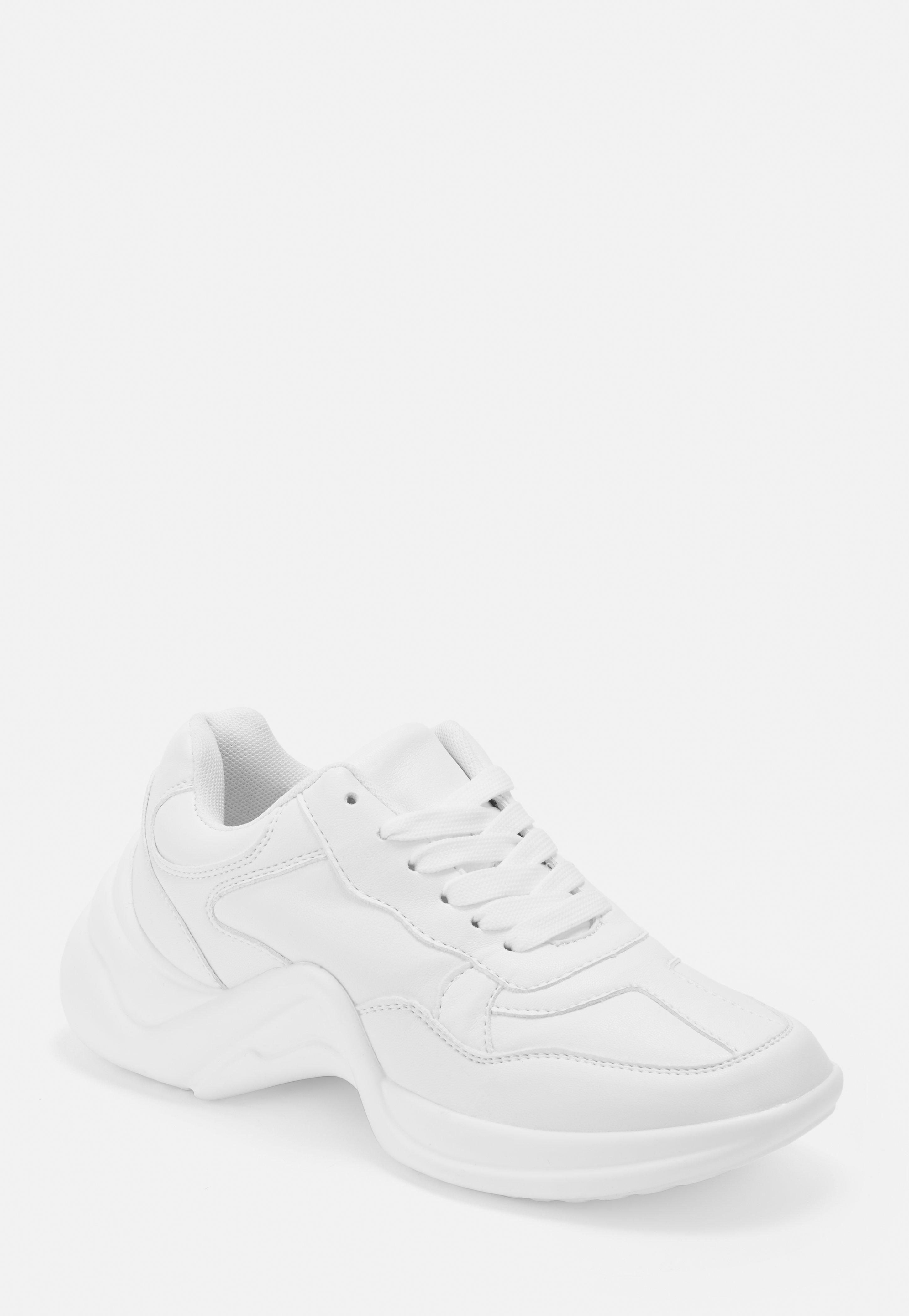 double coupon grande remise de 2019 marques reconnues Baskets blanches à semelles épaisses