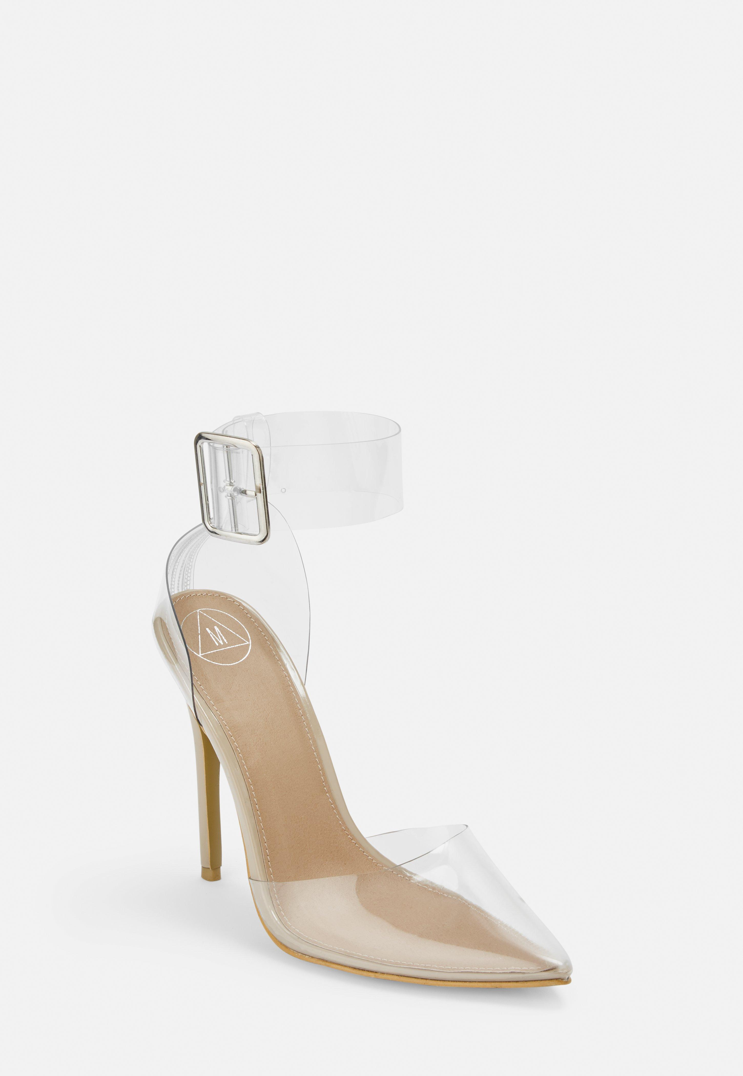 f90299319fc Clear Ankle Buckle Pumps