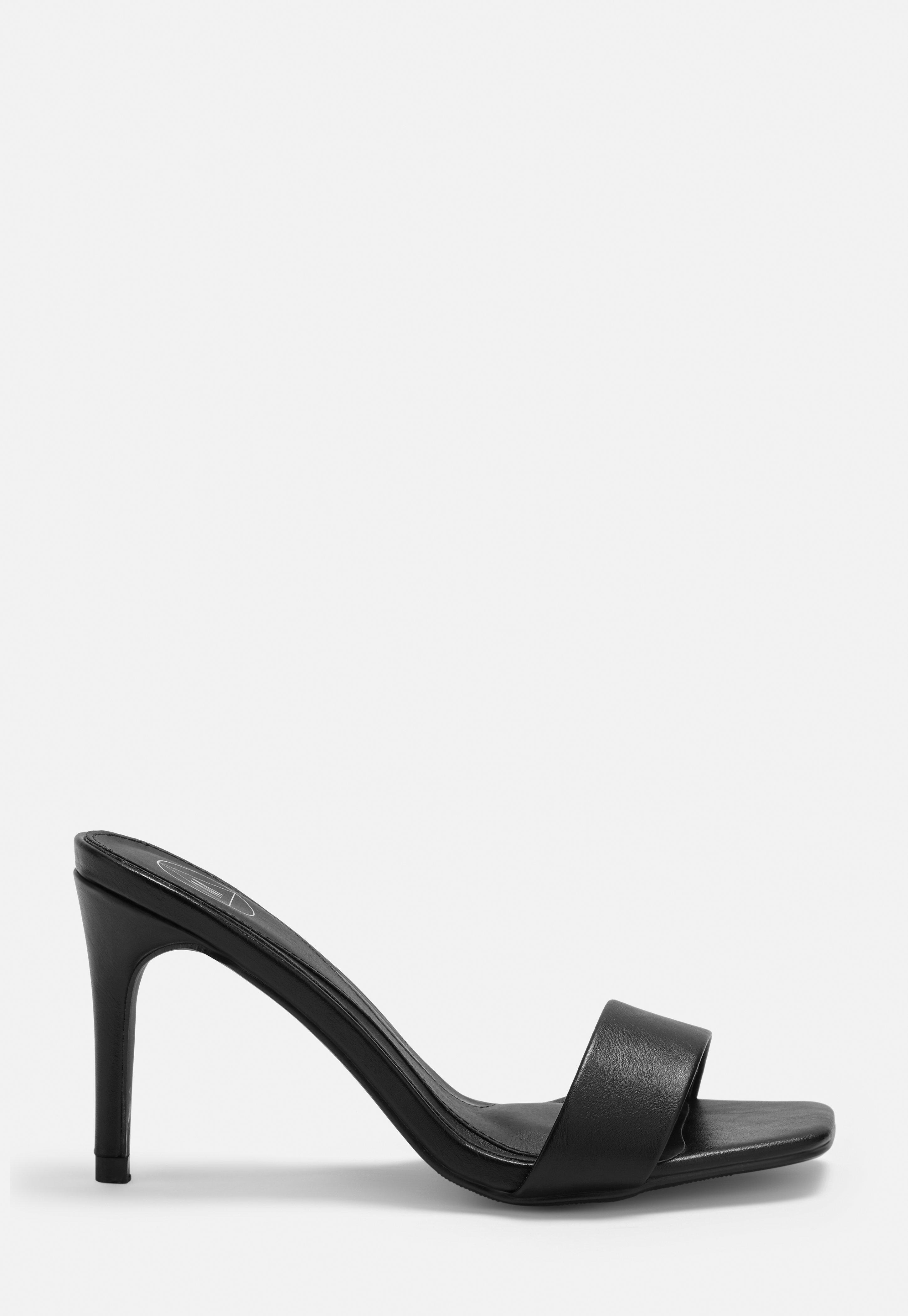 1cfccae868c Black Low Heel Mules