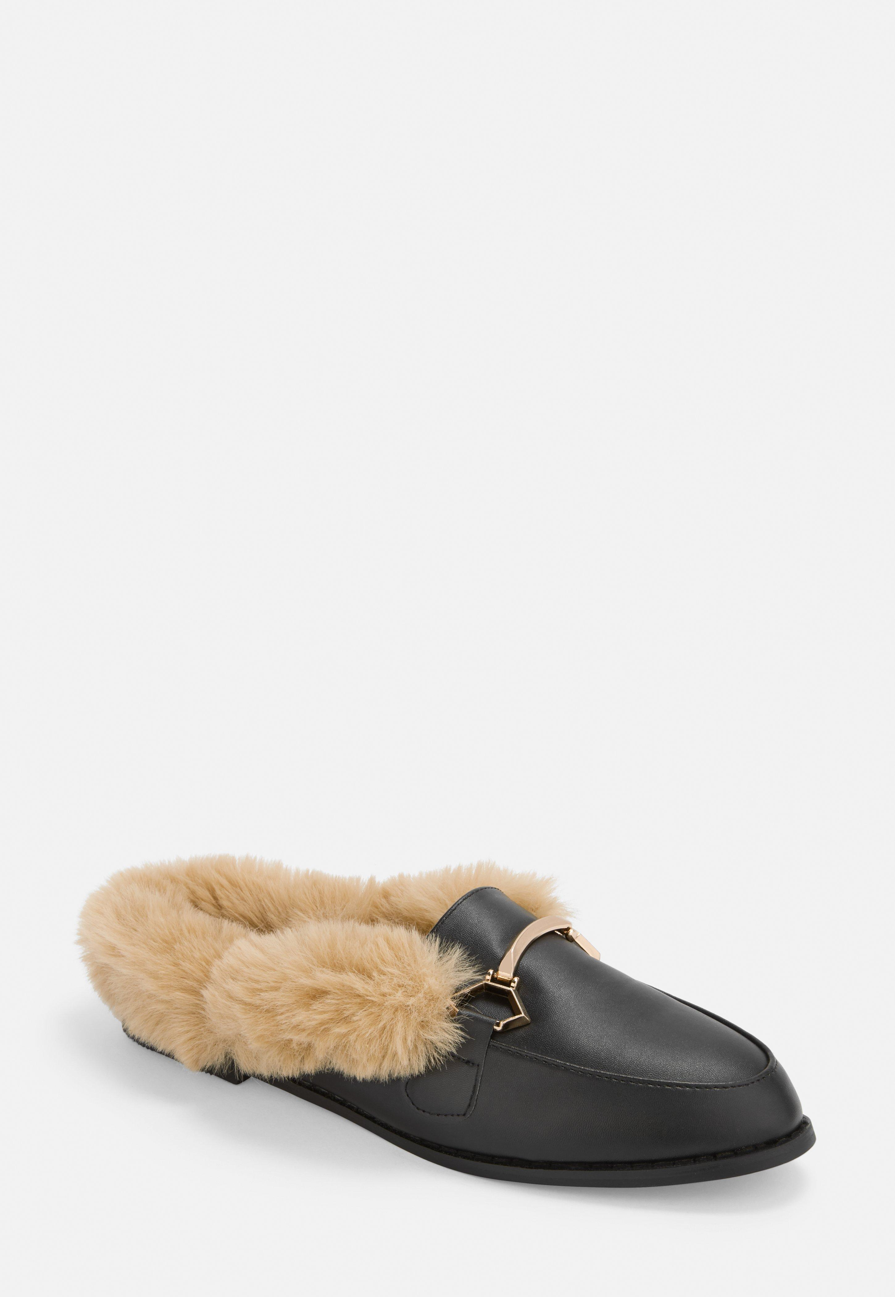zwart mules with faux fur promo code