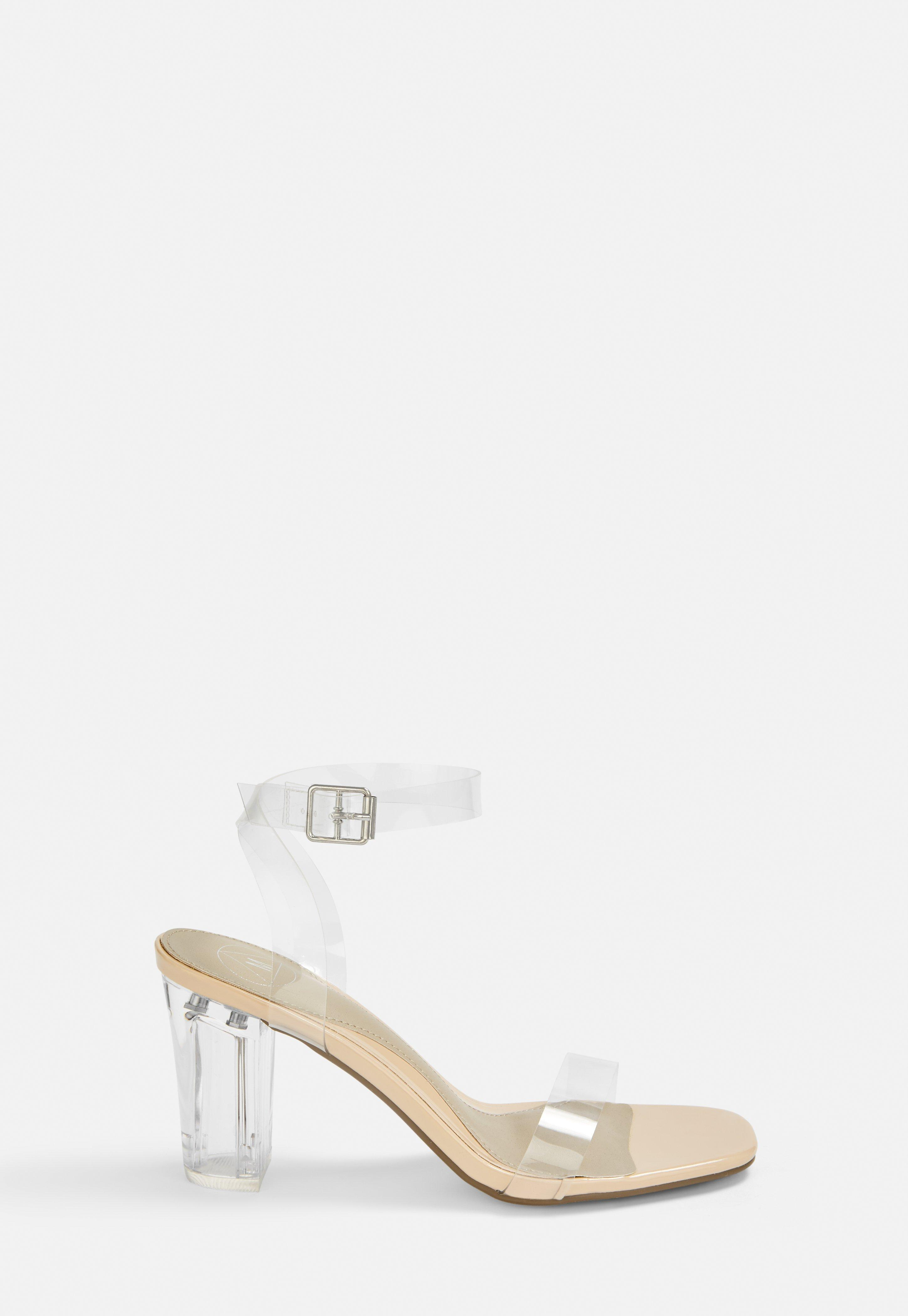 professional sale find lowest price crazy price Nude Clear Mid Block Heels