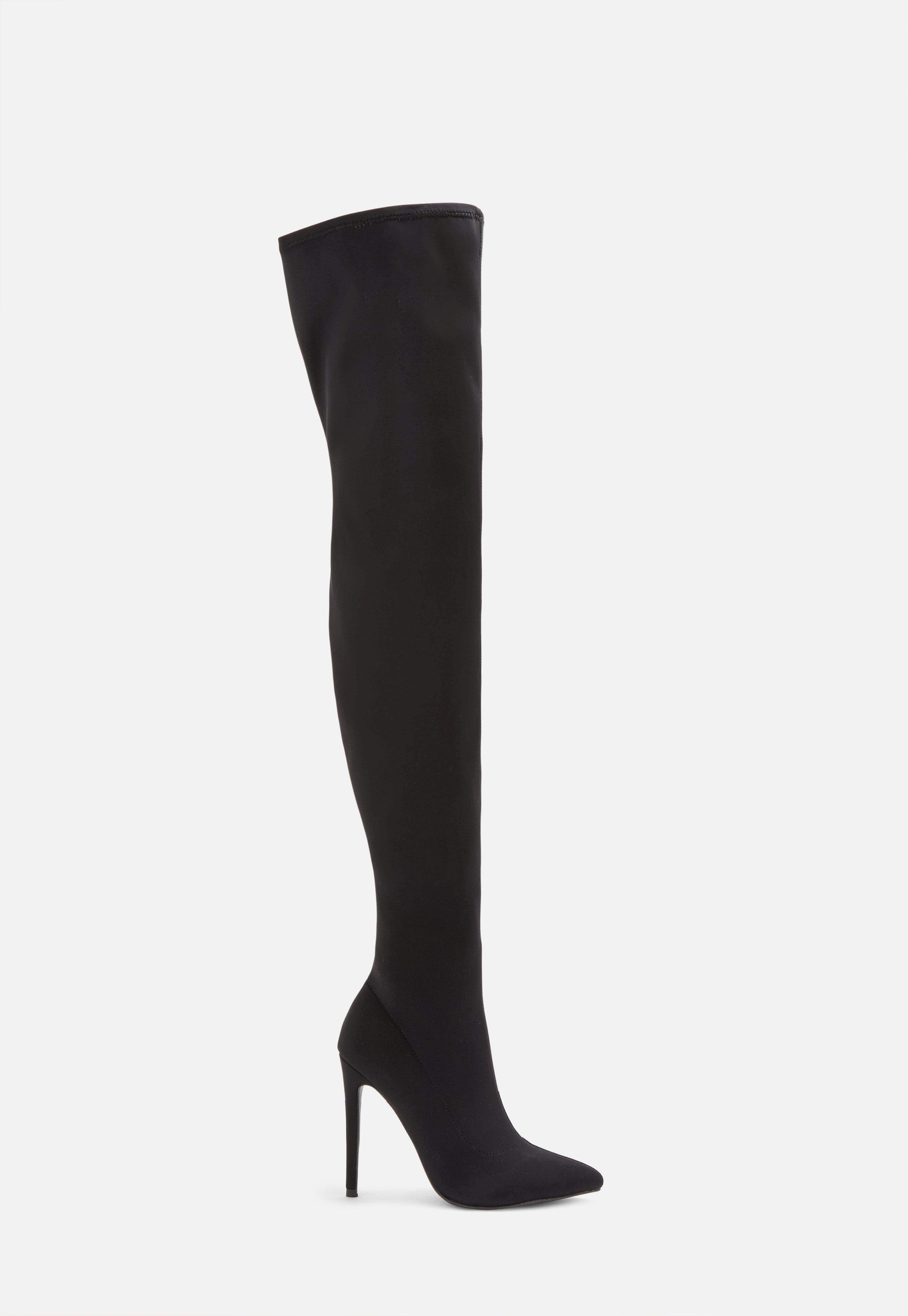 Missguided grey suede over the knee boots NWT