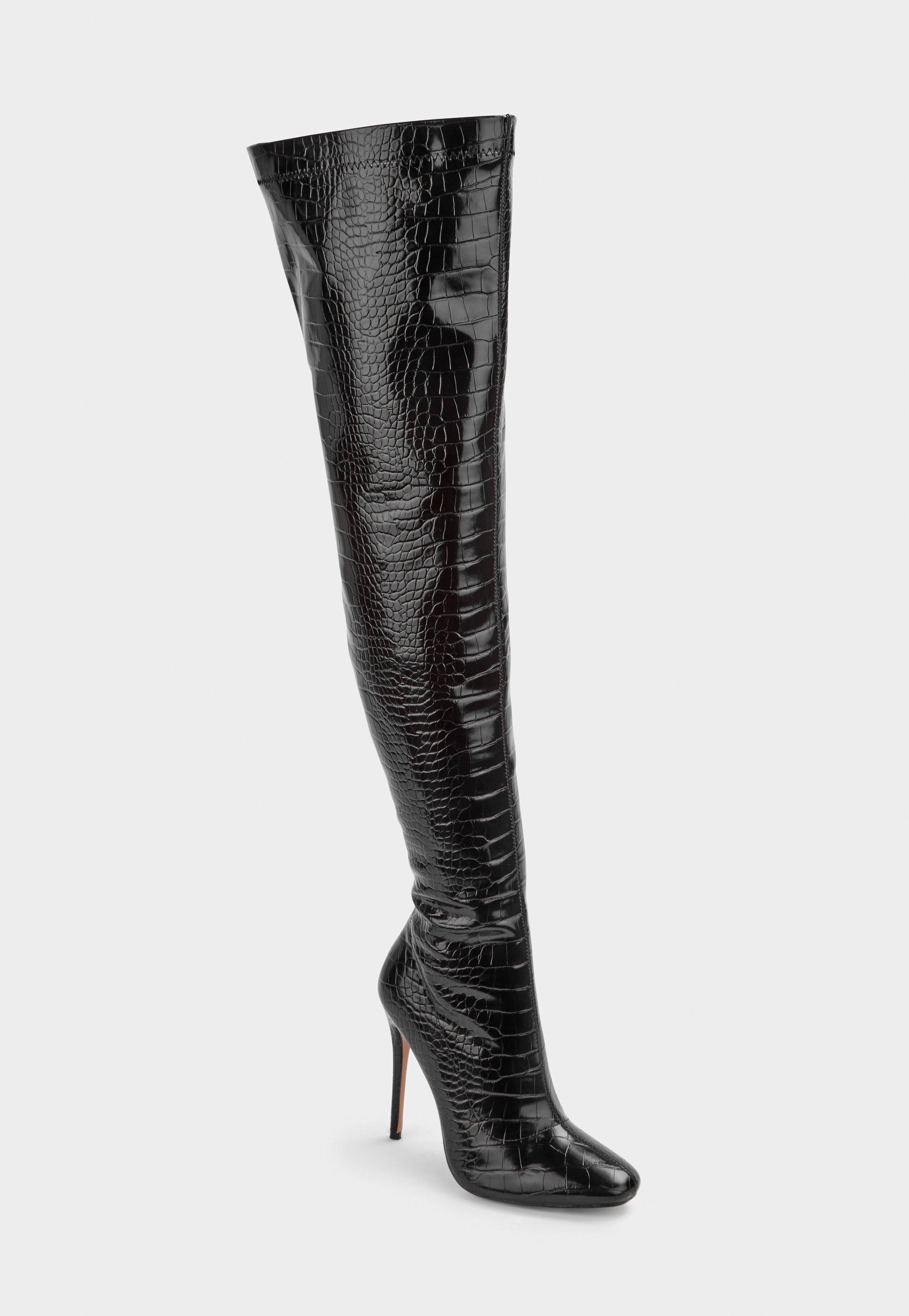 Schwarze Overknees für Damen im Sale |