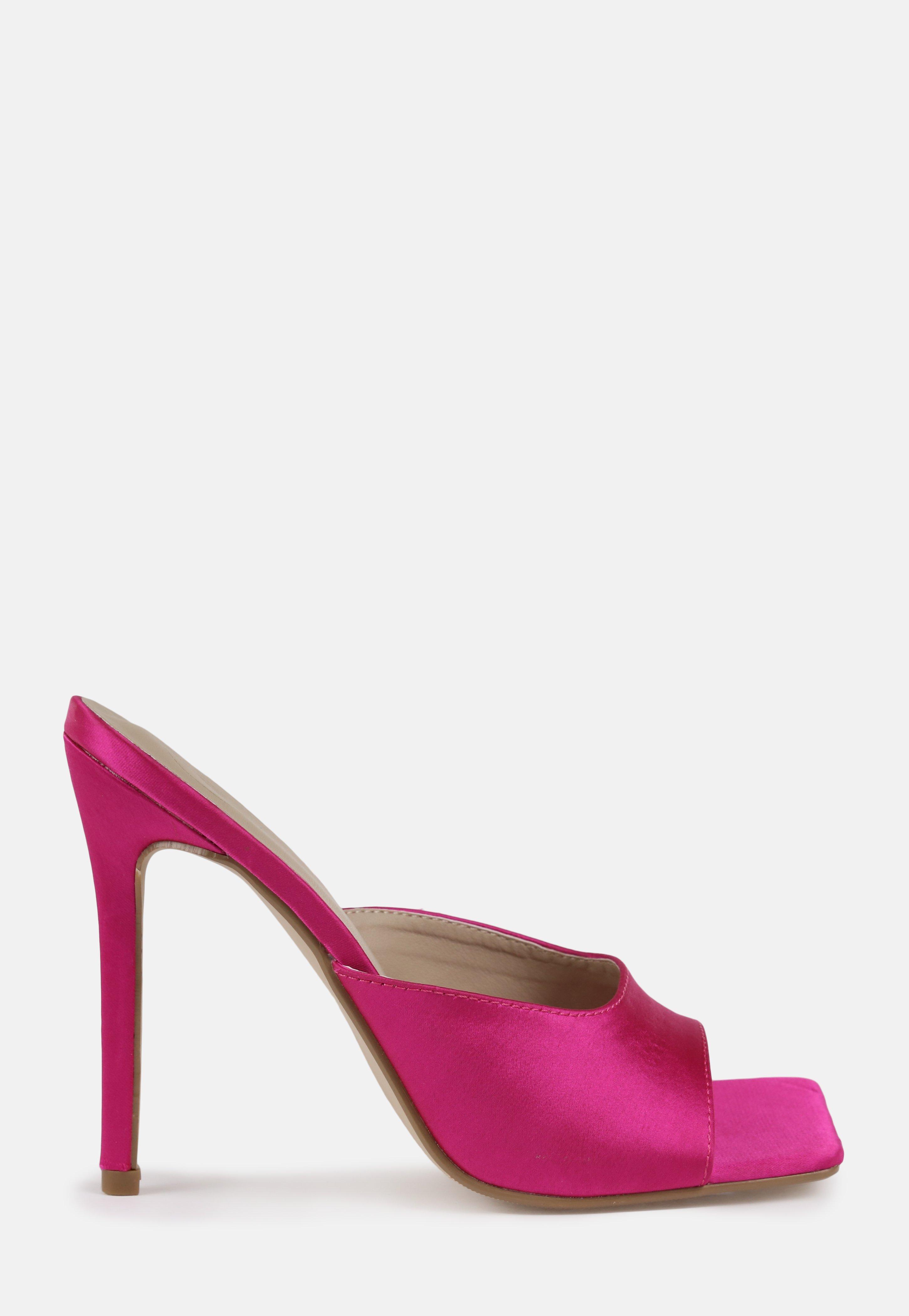 Pink Satin Heels
