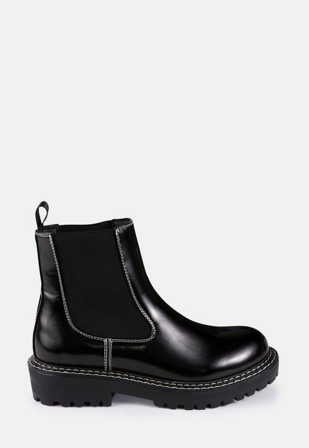 Sole Stitch Chelsea Boots