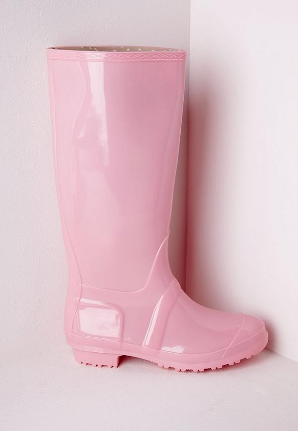 High Leg Wellies Pastel Pink