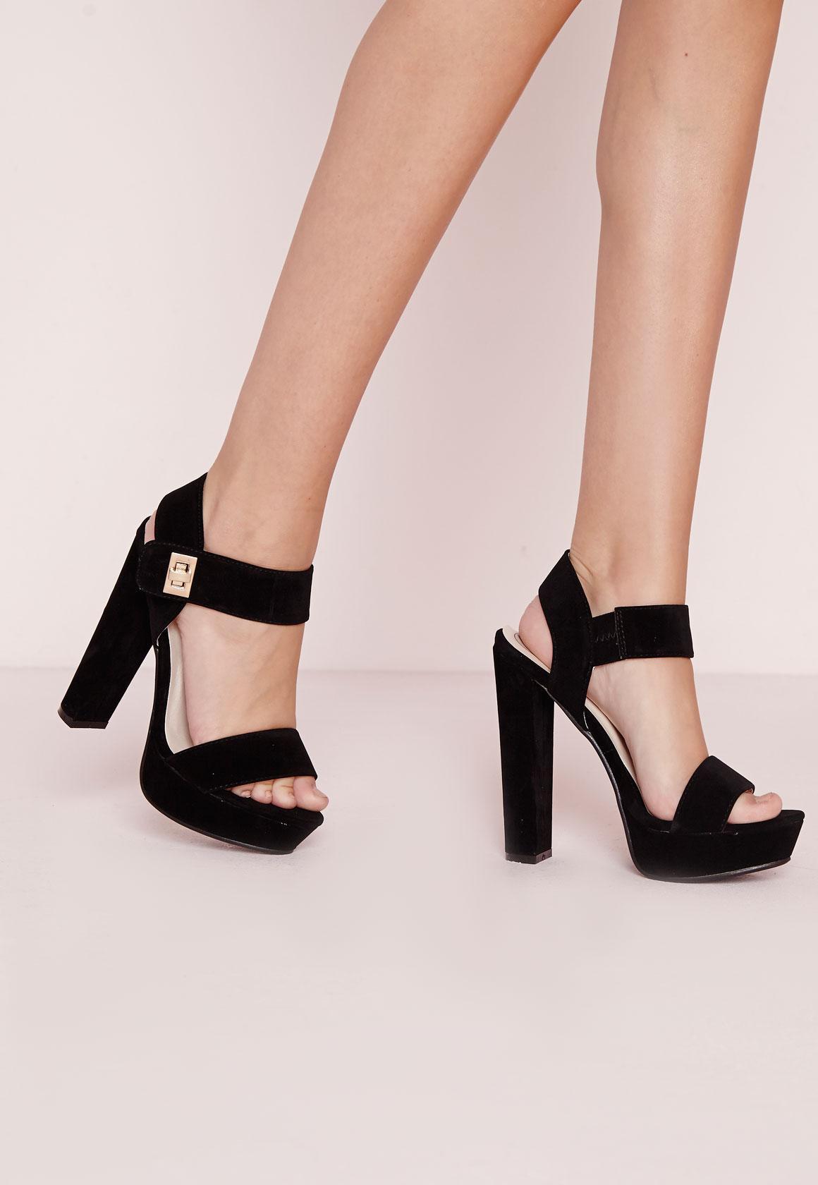 70's Platform Sandal Black - Shoes - High Heels - Platform Heels ...