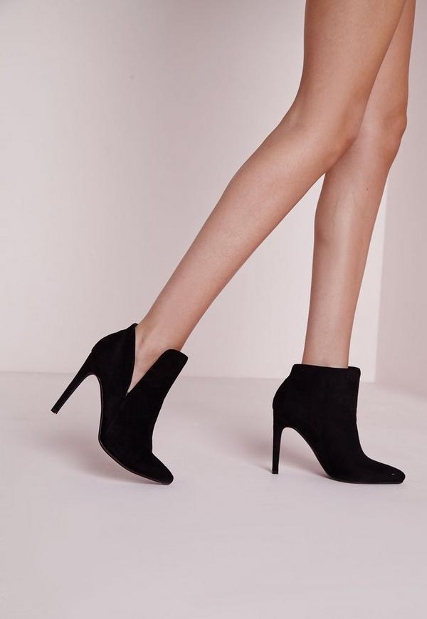 Asymmetric Ankle Boots Black