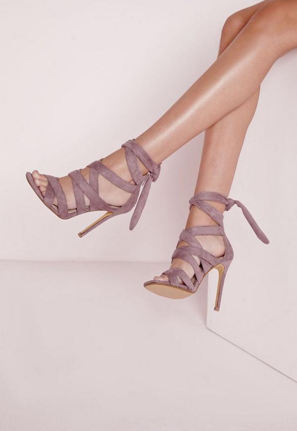 Ankle Lace Up Gladiators Mauve