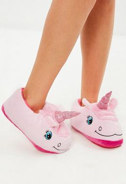 Pink-Unicorn Slippers