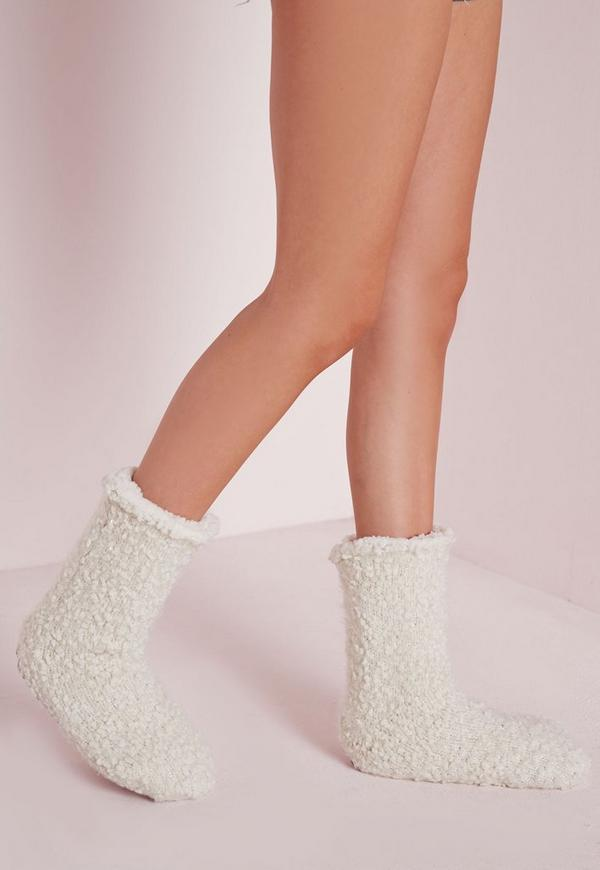 Sequin Knit Slipper Socks