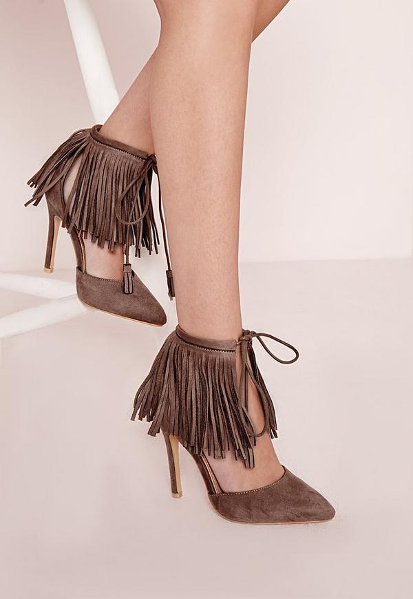 Tassel Court Shoes Tan